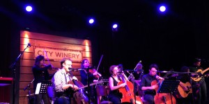 Ben Sollee joins Mother Falcon on stage