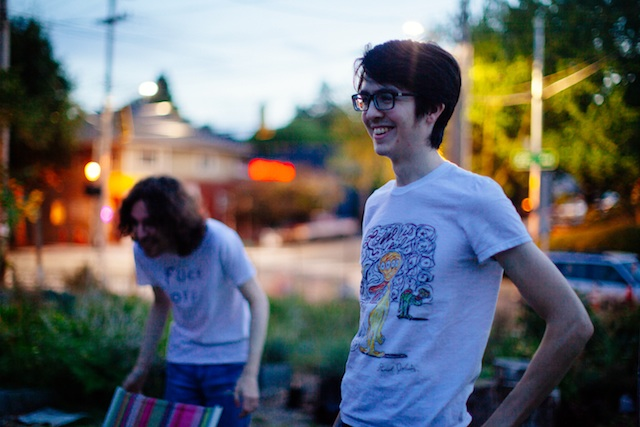 Will Toledo (right) and Ethan Ives (left) of Car Seat Headrest. Courtesy of Cecilia Corsano-Leopizzi