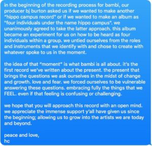 Album statement